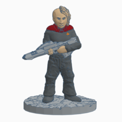 Tough_First_Officer.png Télécharger fichier STL gratuit Un officier en second de Starfleet • Objet pour impression 3D, Ellie_Valkyrie