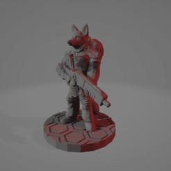 Vulpine_Soldier.png Télécharger fichier STL gratuit Kitsune Soldier pour le PE • Modèle pour imprimante 3D, Ellie_Valkyrie