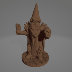 Pointy-Hat Necromancer.png Download STL file Pointy Hat Necromancer • 3D print design, Ellie_Valkyrie