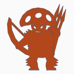 Mushroom Man Archer.png Download STL file Mushroom Man Archer • 3D printable model, Ellie_Valkyrie
