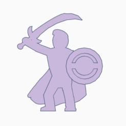 Imprimir en 3D El carismático espadachín Meeple, Ellie_Valkyrie