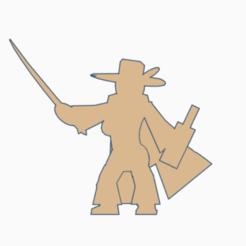 Featherhat Swashbuckler.png Télécharger fichier STL Swashbuckler Meeple • Design imprimable en 3D, Ellie_Valkyrie