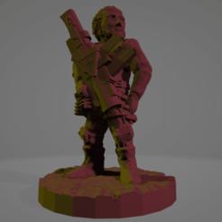 Rocket Randy.png Download STL file Rocket-Launcher Randy, Wasteland Warrior • 3D printing model, Ellie_Valkyrie