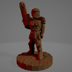 Corp Soldier.png Download STL file Support-Free Corporate Soldier #1 • 3D printer model, Ellie_Valkyrie