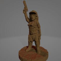 Mean Katherine.png Download STL file Mean Katherine, Wasteland Amazon • 3D printable template, Ellie_Valkyrie