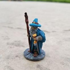 Sword Staff Wizard.jpg Télécharger fichier STL Magicien avec bâton et épée • Plan imprimable en 3D, Ellie_Valkyrie