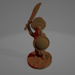 Aggressive Amazon Hoplite.png Download STL file Aggressive Amazon Hoplite • 3D printable model, Ellie_Valkyrie