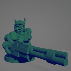 Space Orc Minigun.png Download STL file Cyber-Orquindi With Minigun • 3D printing template, Ellie_Valkyrie