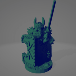 Northern Barbarian Swordsman In Heavy Armor.png Download STL file Northern Barbarian Swordsman In Heavy Armor • Design to 3D print, Ellie_Valkyrie