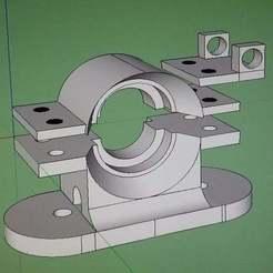 Impresiones 3D gratis V6 Soporte Bowden para I3, YoYo_Crescendo
