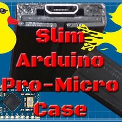 "Imprimir en 3D gratis Slim Arduino Pro Micro / Leonardo Case! ""DuckDuino"", YoYo_Crescendo"