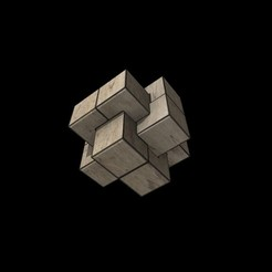 Download free OBJ file Cube - Puzzle • 3D printing model, g4bbigo