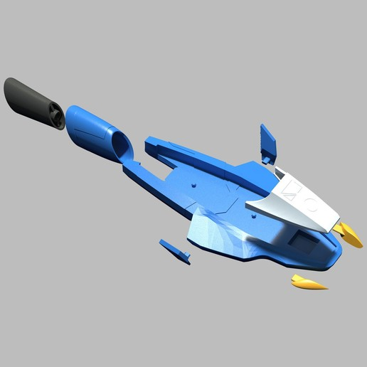 GalaxyGlider_exploded View.44.jpg Download STL file PRIS Galaxy Glider • 3D print object, Designincase