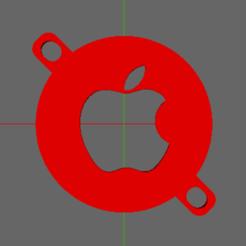 fan-cover-apple.png Télécharger fichier STL Couvercle du ventilateur du refroidisseur à filament Anet A8 - Pomme • Modèle imprimable en 3D, TheAussieGonz