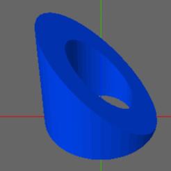 Download free STL 45 Degree Filament Feeder Bolt Spacer, TheAussieGonz