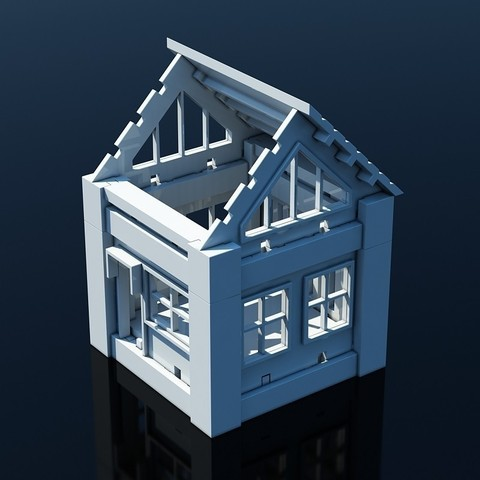 V02.jpg Download STL file Printable Architectural Kit 1 • 3D print design, ArchitectureKIT