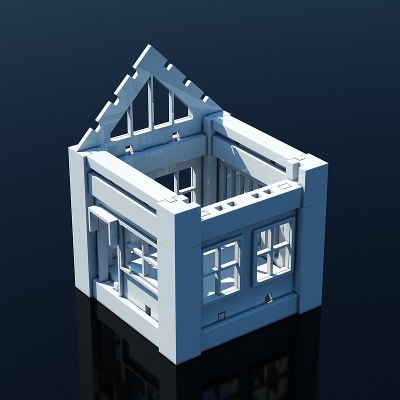 V03.jpg Download STL file Printable Architectural Kit 1 • 3D print design, ArchitectureKIT