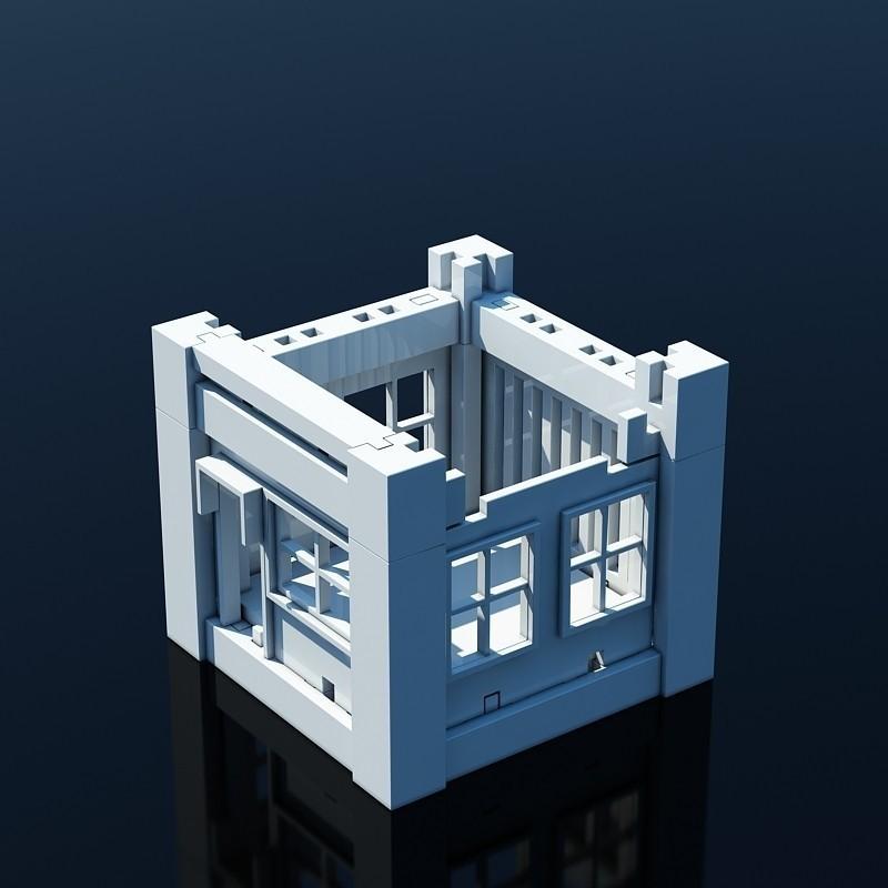 V04.jpg Download STL file Printable Architectural Kit 1 • 3D print design, ArchitectureKIT