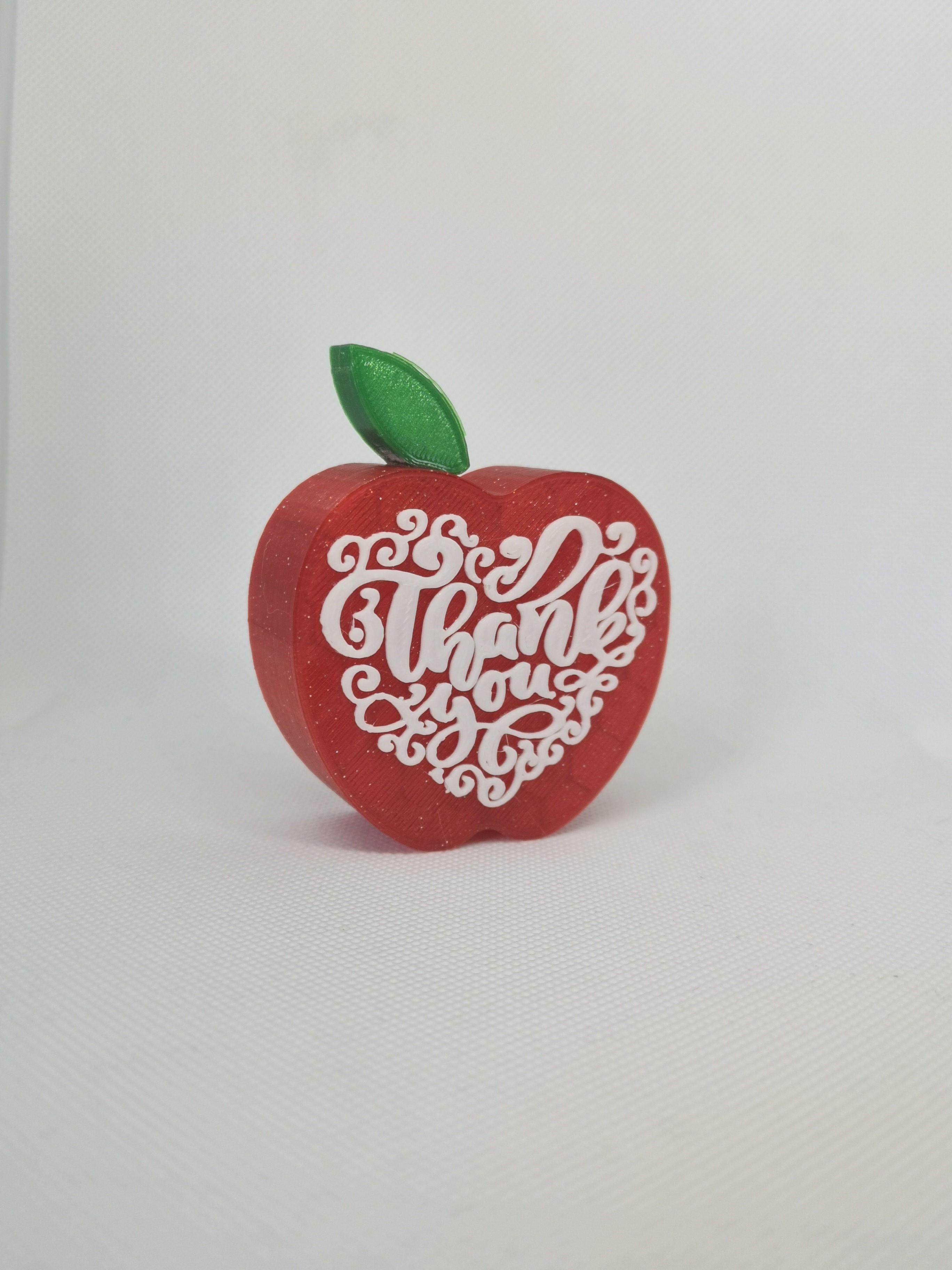 Thankyou Apple shaped Teacher Gift