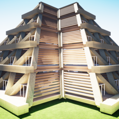Download STL files Pyramid Habitat, UrbanOctopus