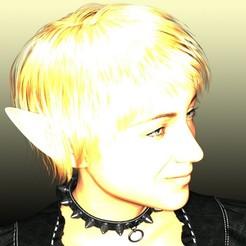 elf head.jpg Download STL file Female Elf • 3D printing object, UrbanOctopus