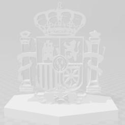 foto corona 1.png Download STL file covid 19 spanish shield • 3D printer design, sandradelafc27