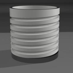 Imprimir en 3D Maceta roscada, MNDLK