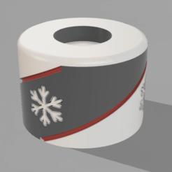 Descargar diseños 3D Portavelas Navideño, MNDLK
