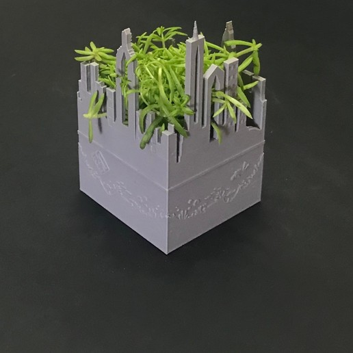 Descargar modelo 3D new york city planter, QBKO