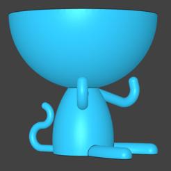 Download STL monkey vase for plants, alanfsreis