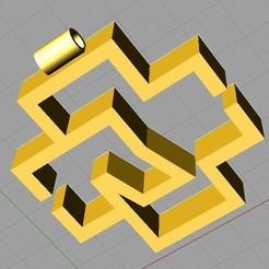 Download free 3D model Rammstein keychain, pablocorvera9