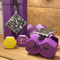 finished_hive_game.PNG Télécharger fichier STL Instructions pour le jeu de la ruche (anglais) Étiquette-cadeau du code QR • Design pour imprimante 3D, benwithem