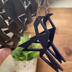 Descargar archivos STL Pendiente de pájaro de origami, benwithem