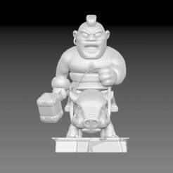 Descargar modelos 3D Hog Rider Clash of Royale, BisneExpress