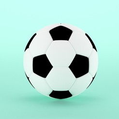 Download 3DS file Football • Object to 3D print, unmeshmk82