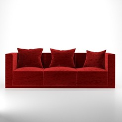Download 3D printing files Sofa and poillow, unmeshmk82