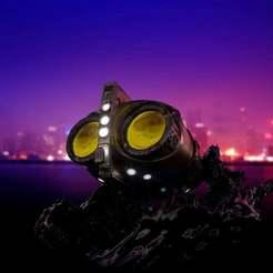 REnder_1.1.jpg Download free STL file Archie Watchmen Owlship • 3D printing object, Blascool