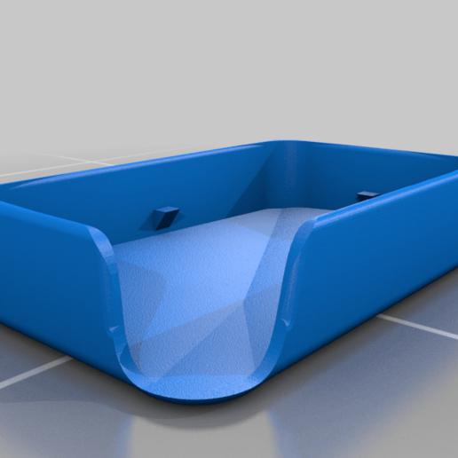 Télécharger plan imprimante 3D gatuit étui pour porte-saupe avec pente d'évacuation de l'eau, guvenonru