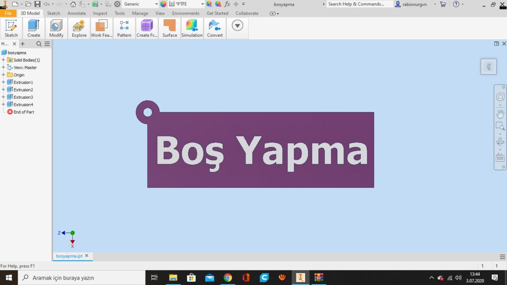 Ekran_Görüntüsü_491.png Télécharger fichier STL gratuit Boş Porte-clés Yapma - un porte-clés en turc (anahtarlık) • Design pour impression 3D, guvenonru