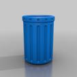 Télécharger fichier STL gratuit poubelle à pédale (longue et non vasemode), guvenonru