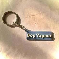 Télécharger plan imprimante 3D gatuit Boş Porte-clés Yapma - un porte-clés en turc (anahtarlık), guvenonru