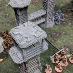 Descargar diseños 3D gratis Terreno de la Legión de Star Wars - Pasarelas y torres de vigilancia modulares, Sablebadger