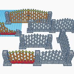 preview.png Télécharger fichier STL gratuit Terrain de jeu de guerre fantastique - Clôtures de cimetière • Design imprimable en 3D, Sablebadger