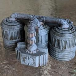 Descargar modelos 3D gratis Star Wars Legion Terrain - Tanques de combustible y químicos, Sablebadger
