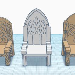 Thones_preview.png Télécharger fichier STL gratuit Terrain Fantasy Wargame - Trônes • Objet à imprimer en 3D, Sablebadger