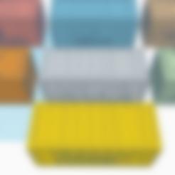 Télécharger modèle 3D gratuit Marvel Crisis - Conteneurs d'expédition 40mm avec logos, Sablebadger