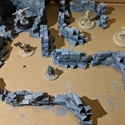 IMG_20180620_200806_1.jpg Download free STL file Fantasy Wargame Terrain - Ruined Wall Sections • 3D printer template, Sablebadger