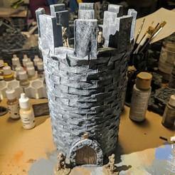Descargar archivos STL gratis Fantasy Wargame Terrain - Torre de Piedra Modular, Sablebadger