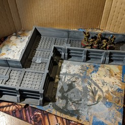IMG_20180514_081624.jpg Download free STL file Star Wars Legion Terrain - Modular Trench System • Model to 3D print, Sablebadger