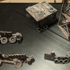 Impresiones 3D gratis Gaslands - Barricadas de chatarra y choza, Sablebadger